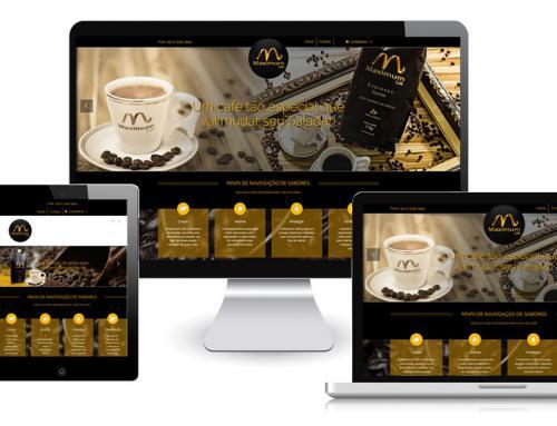 Maximum Café – Hotsite Responsivo Gerenciável do Tipo Loja Virtual + Otimização SEO